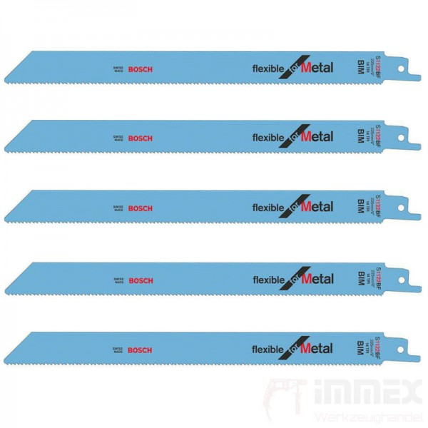 Bosch Säbelsägeblätter Metall 5x S1122BF 225mm