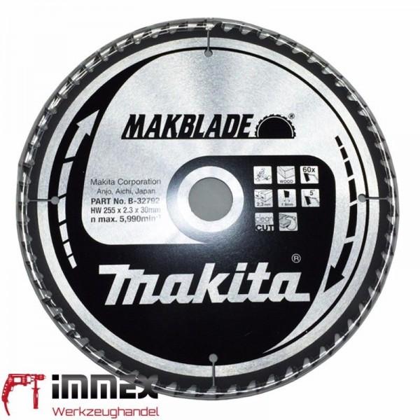 Makita Sägeblatt 255x30mm - 60 Zähne Holz B-32792