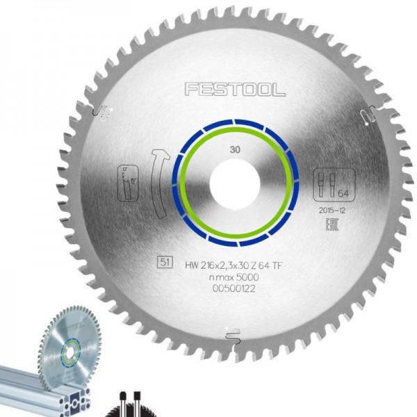 Festool Spezial-Sägeblatt 216x2,3x30 TF64 500122
