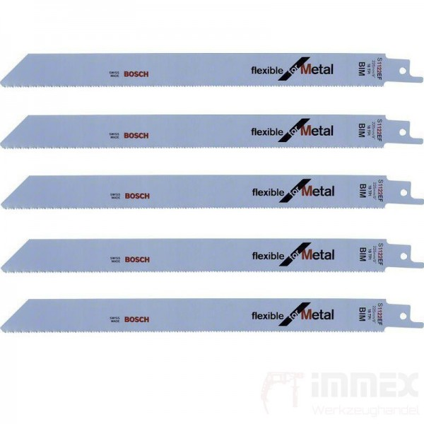 Bosch Säbelsägeblätter Metall 5x S1122EF 225mm