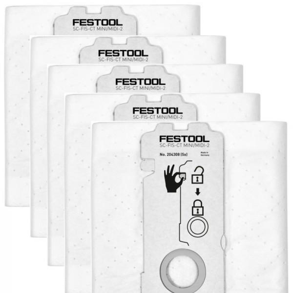 Festool SELFCLEAN Filtersack SC-FIS-CT MINI/MIDI-2/5 204308