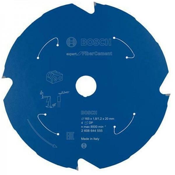 Bosch Sägeblatt für Akku-Tauchsäge, Handkreissäge 165mm Z4 Fiber Cement