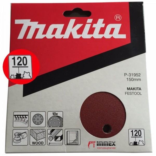 Makita Exzenterschleifer Schleifpapier 150mm P120 P-31952 VOM FACHHANDEL !