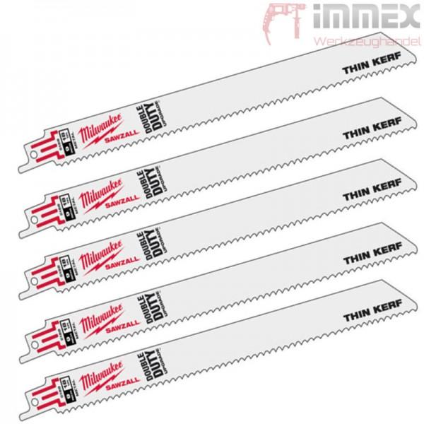 Milwaukee Sägeblätter Metall 5x 48005184 150mm