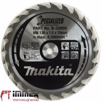 Makita Sägeblatt 136x10mm - 24 Zähne Holz B-32895
