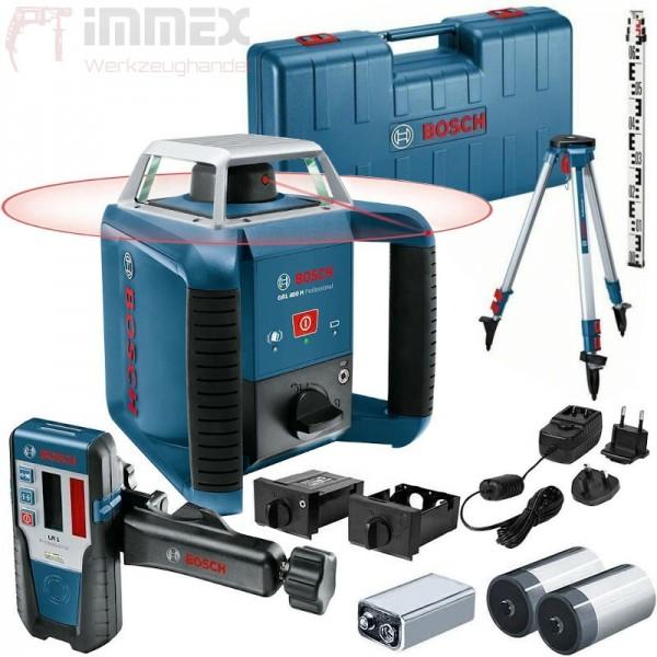 Bosch Baulaser Rotationslaser GRL 400 H Set