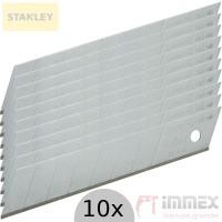 Stanley Klingen Cuttermesser Messer Cutter 10x 18mm Abbrechklingen