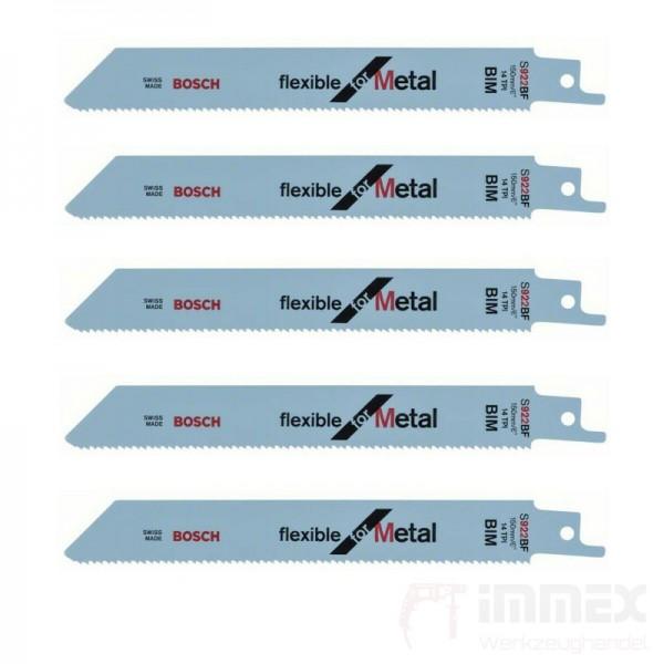Bosch Säbelsägeblätter Metall 5x S922BF 150mm