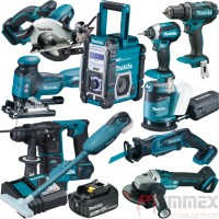 Makita Akku-Combo Set 18V XXL-Pack 10 Maschinen