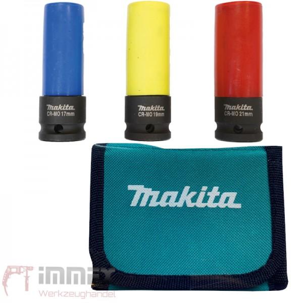 """Makita Steckschlüssel-Set """"KFZ"""" E-12354 3-tlg."""