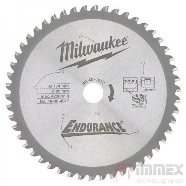 Milwaukee Sägeblatt Metall 174x20mm 50HW