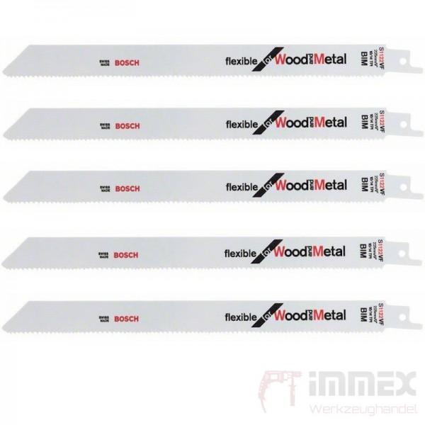 Bosch Säbelsägeblätter Holz/Metal 5x S1122BF 225mm