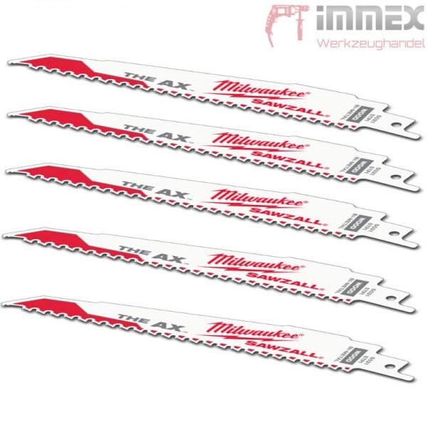 Milwaukee Sägeblätter Holz mit Nägel 5x 48005027