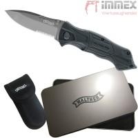 Walther Messer Taschenmesser + Holster PRO Black Tac