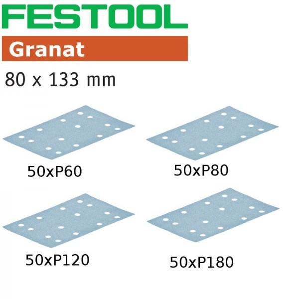 Festool Schleifscheiben Schleifpapier Sander Granat 50x 100x P60 P80 P120 P180