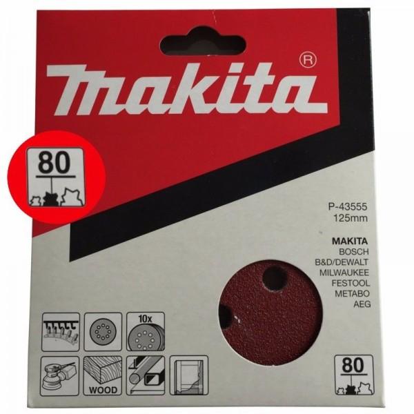 Makita Schleifscheiben 125mm P80 P-43555