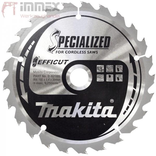 Makita Sägeblatt 165x20mm - 25 Zähne Holz B-62985