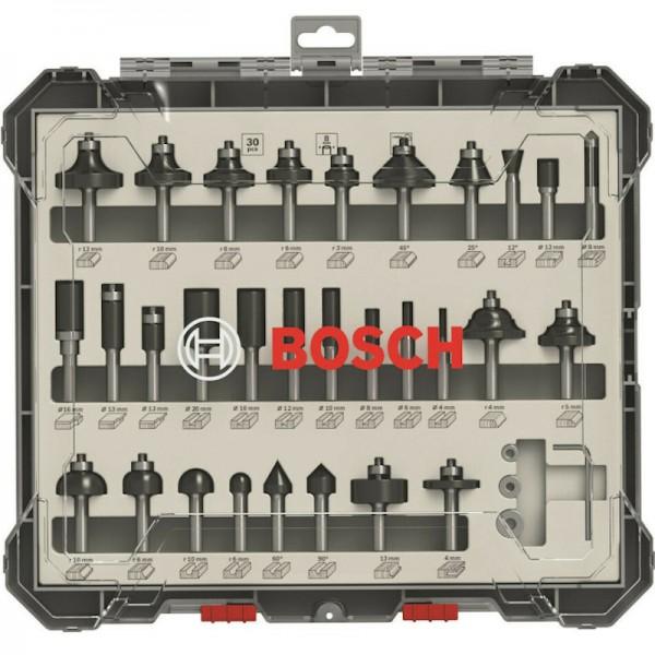 Bosch Fräser-Set 30-teilig 8mm Schaft 2607017475