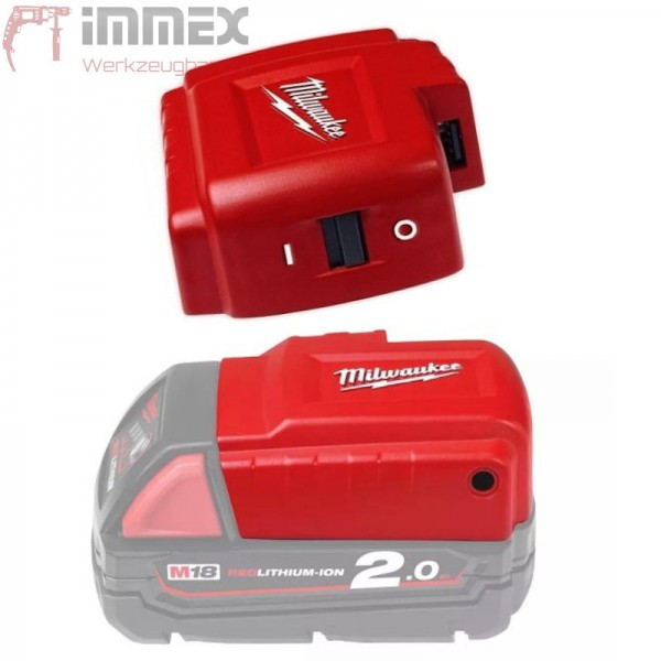 Milwaukee Adapter M18 Akku Powerbank USB