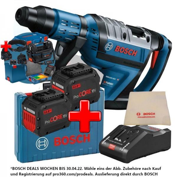 Bosch Akku-Bohrhammer 18V GBH 18V-45C BITURBO SDS-Max