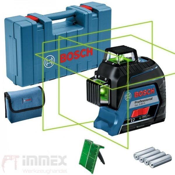 Bosch Linienlaser grün 3x360° GLL 3-80 G