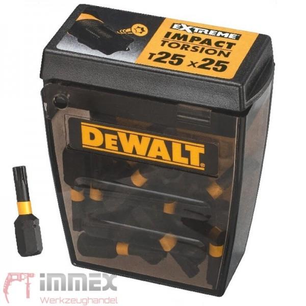 DeWALT schlagfeste Bits 25x Torx T25 DT70558T EXTREME Bit-Sortiment TicTac Box
