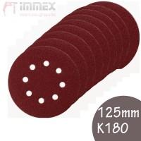Makita Schleifscheiben 10x 125mm K180 P-43583