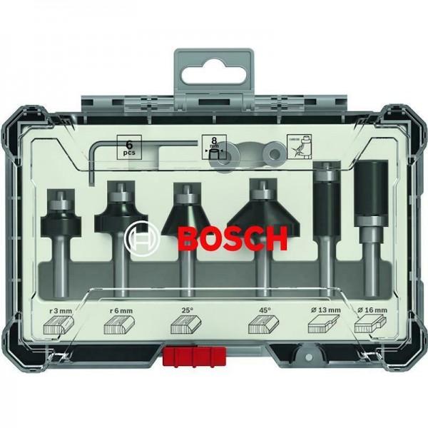 Bosch Fräser-Set 6-teilig 8mm Schaft 2607017469