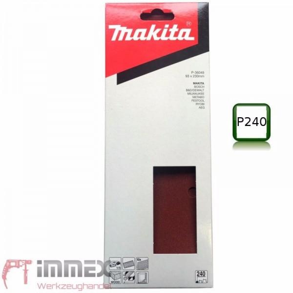 Makita Schwingschleifer Sander Schleifpapier 93x230 P240 P-36049 VOM FACHHANDEL